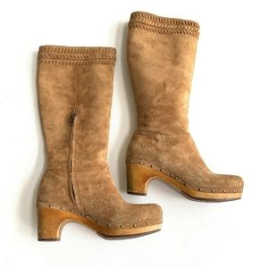 Ugg Boots Tall Suede Womens Size 8